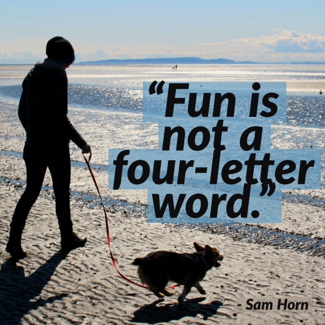 fun is not a four letter word - beach