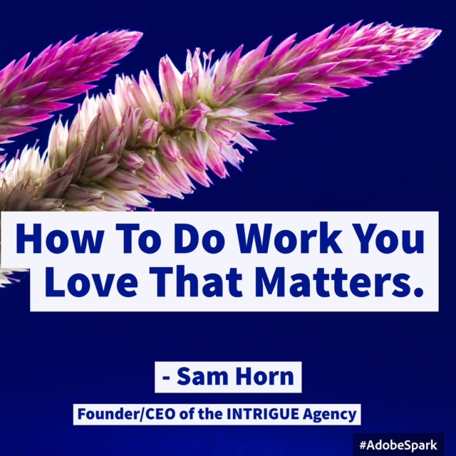 how to do work you love - middle