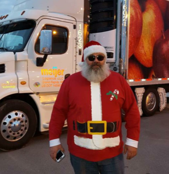 "Mike Hudson, or ""Santa"" as he's known in the community"