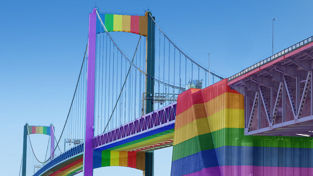 Click on the bridge to sign our petition to paint the Walt Whitman Bridge the colors of the Philly Pride Flag