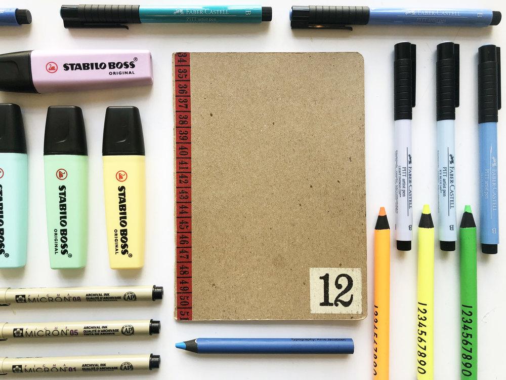 Nicole Barlettano's 2014 sketchbook
