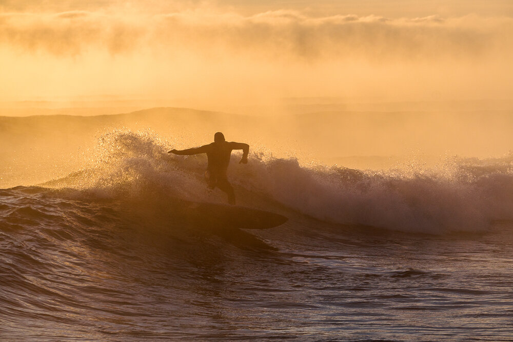 Freshwater surfing, Lake Superior, Minnesota