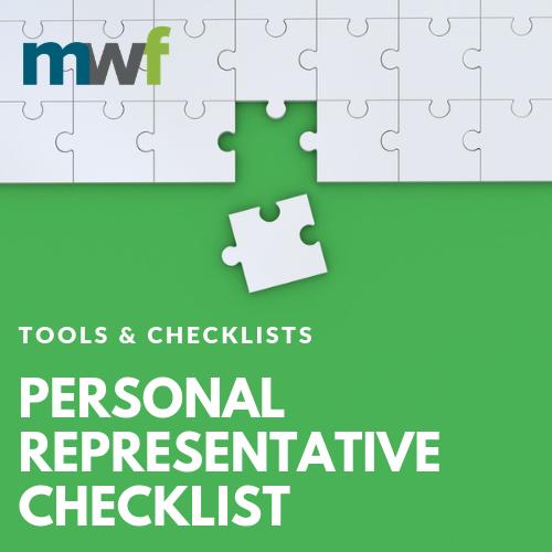 Personal Representative Checklist