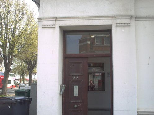 The former bank building where Phil's father used to work