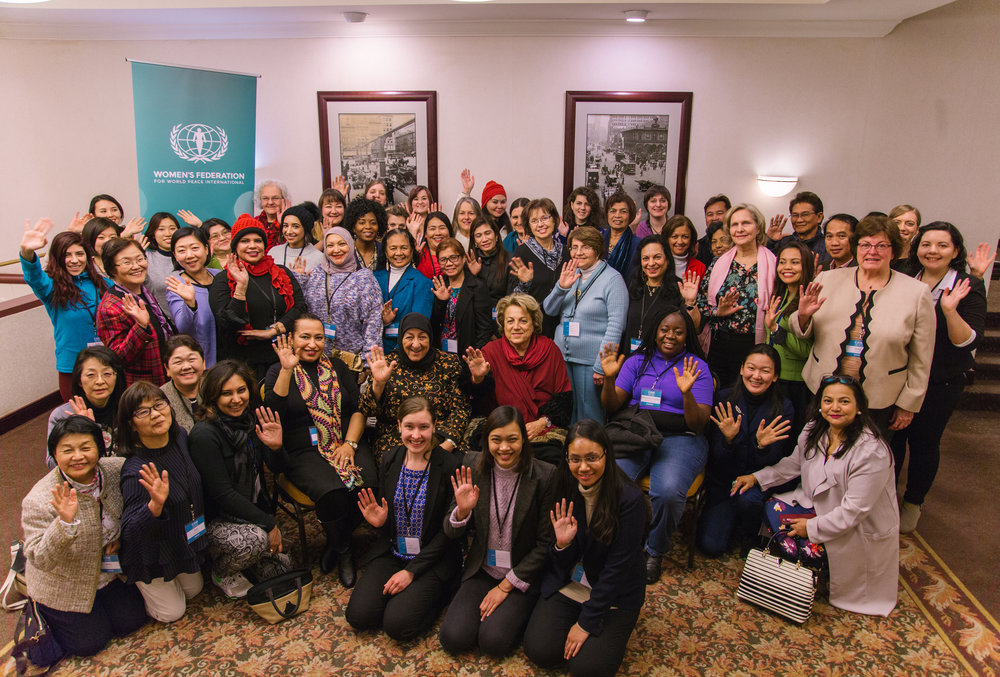 Women working together to realize one global family