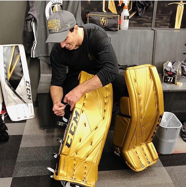 Fleury's new pads have started quite the conversation. We need to know your thoughts on the new colours. #AlwaysAGoalie 📸: @tsn_official