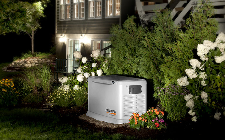 GENERAC Generator outside home