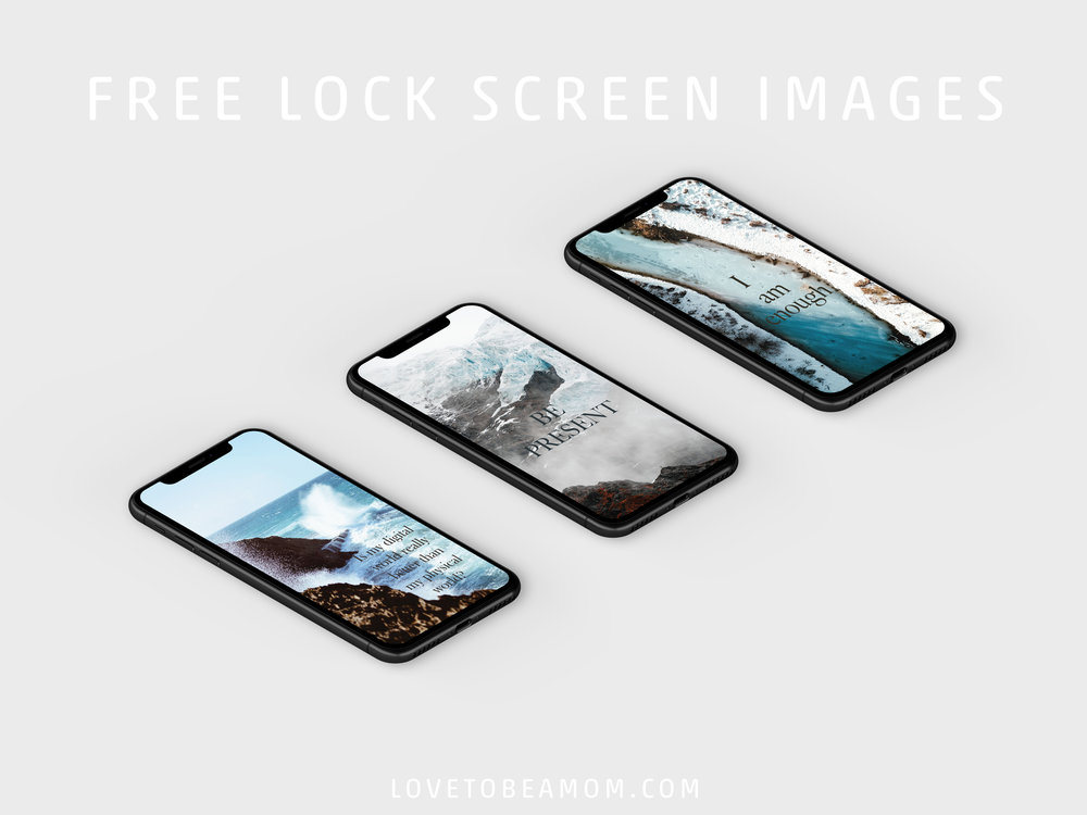FREE Lock Screen images to remind you to use your phone for good.
