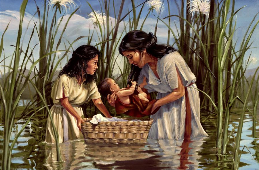 Moses, his mother and Miriam
