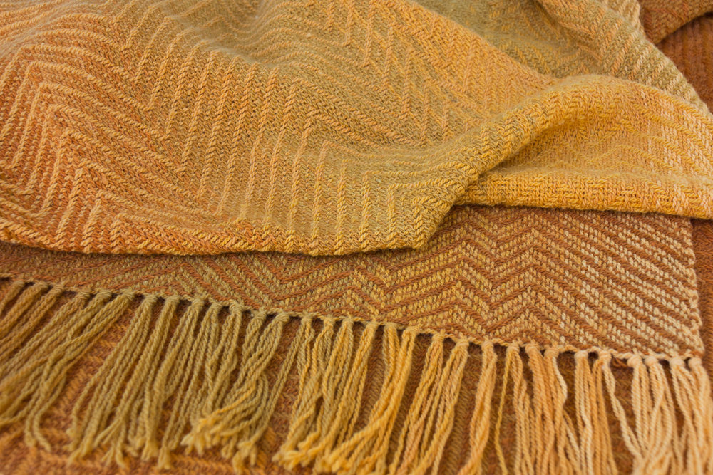 Handwoven wool shawl