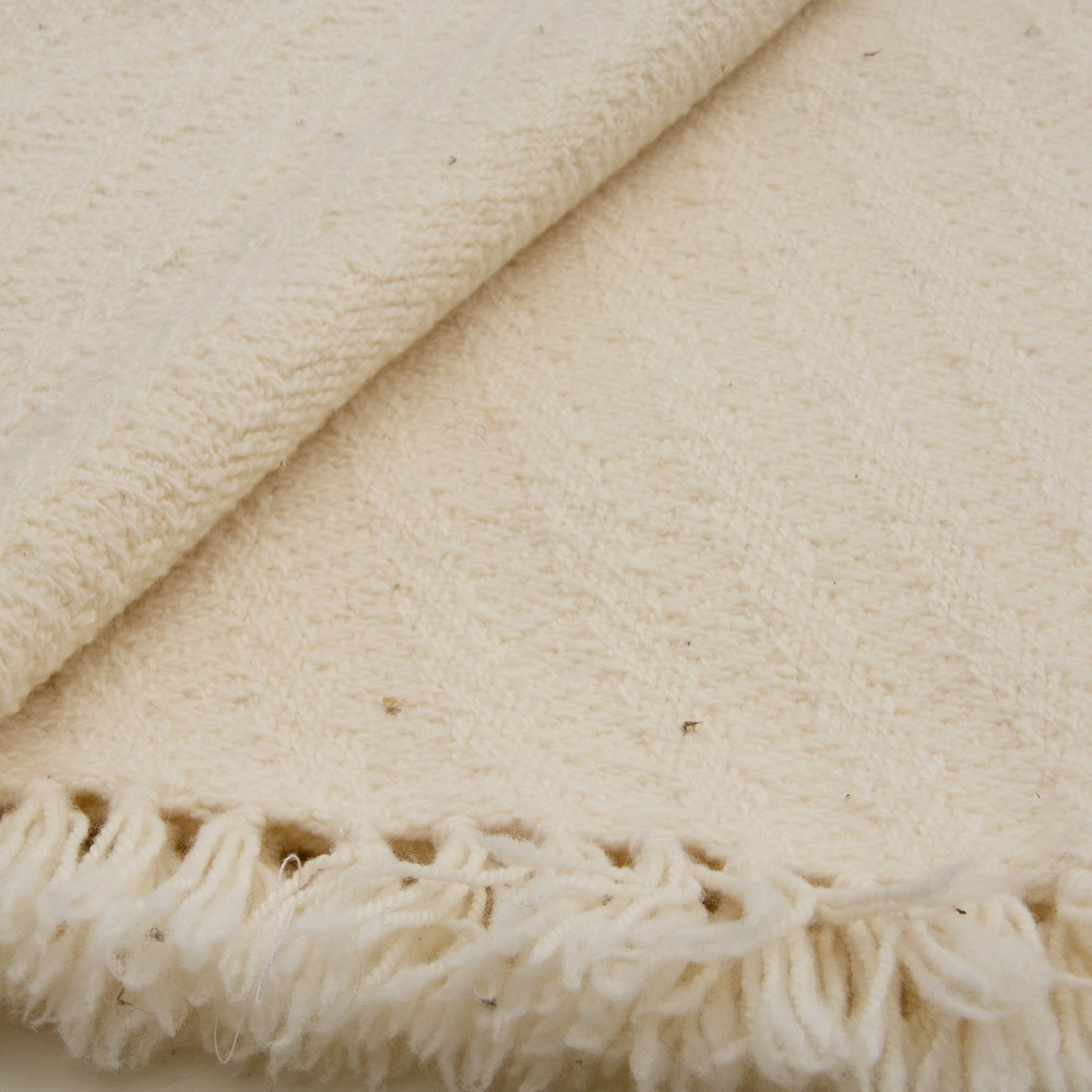 White wool throw