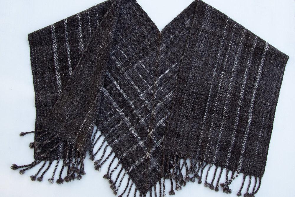 Handspun V-shawl