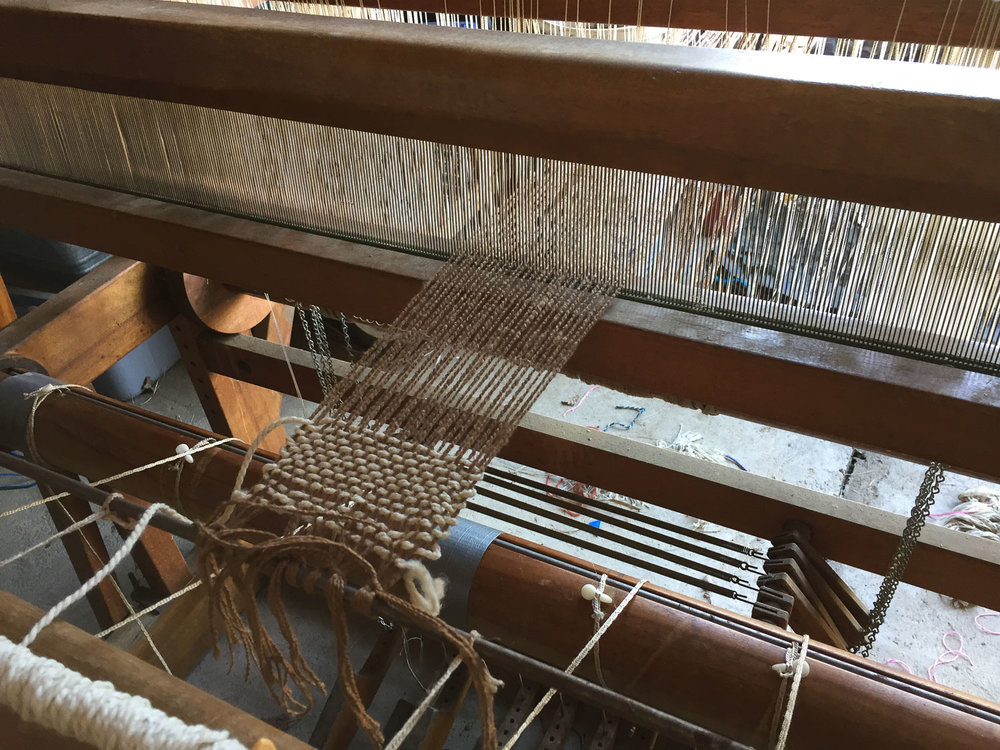 Old loom put back in business.
