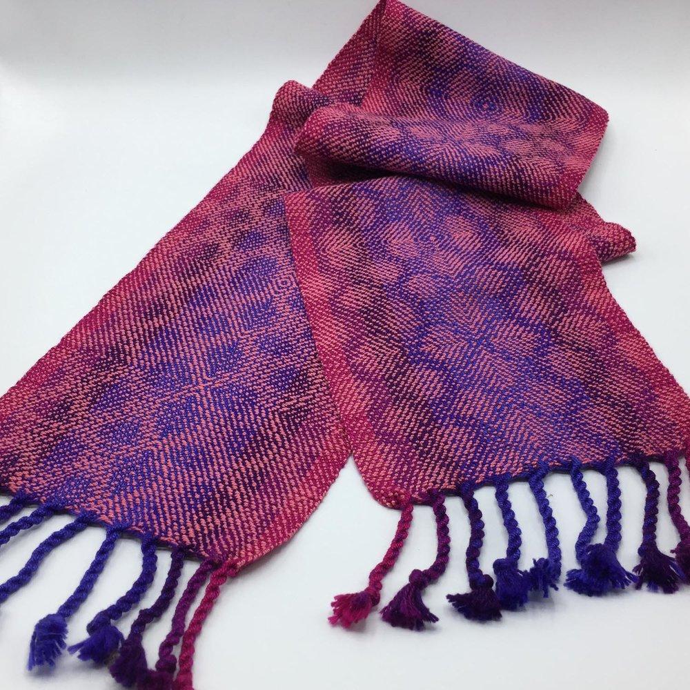 Handwoven cotton scarf.