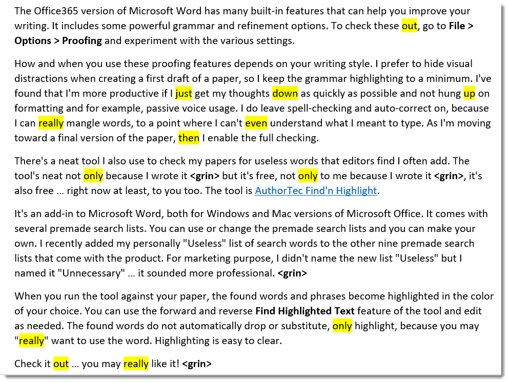 AuthorTec Find'n Highlight Example