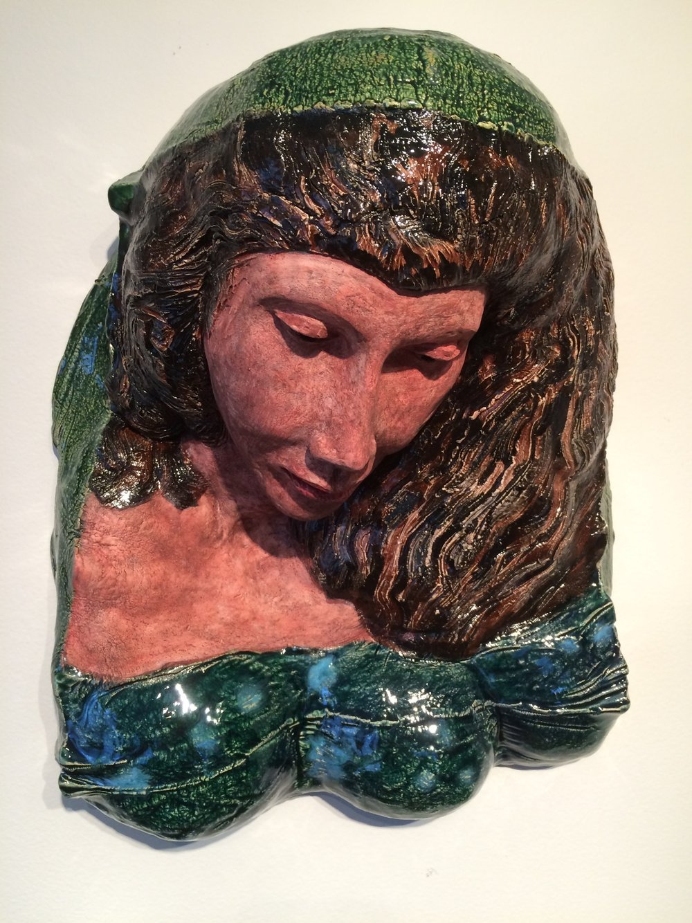 "Adrift  2015, ceramic, 14x13x9"""