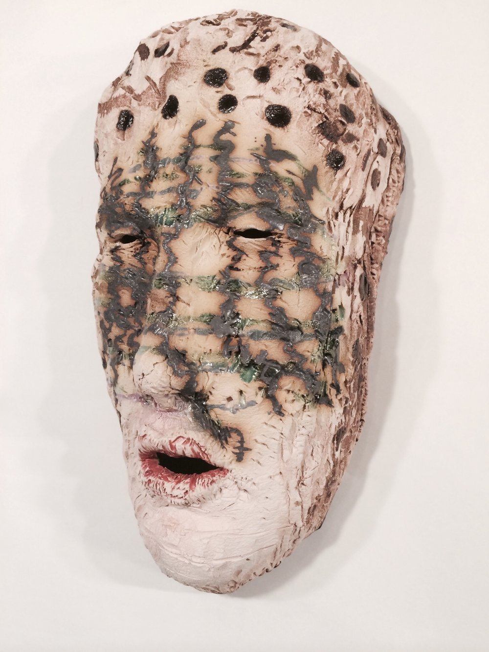 Through The Veil  2014, ceramic, 15x8x6""