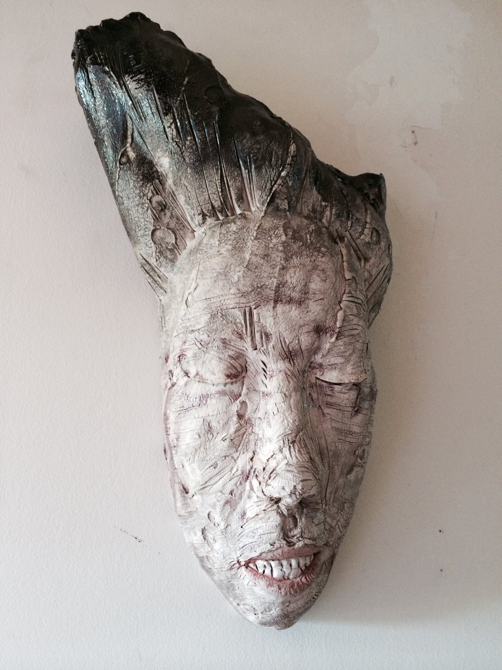 "Woe  2013, ceramic, 19x10x7"""