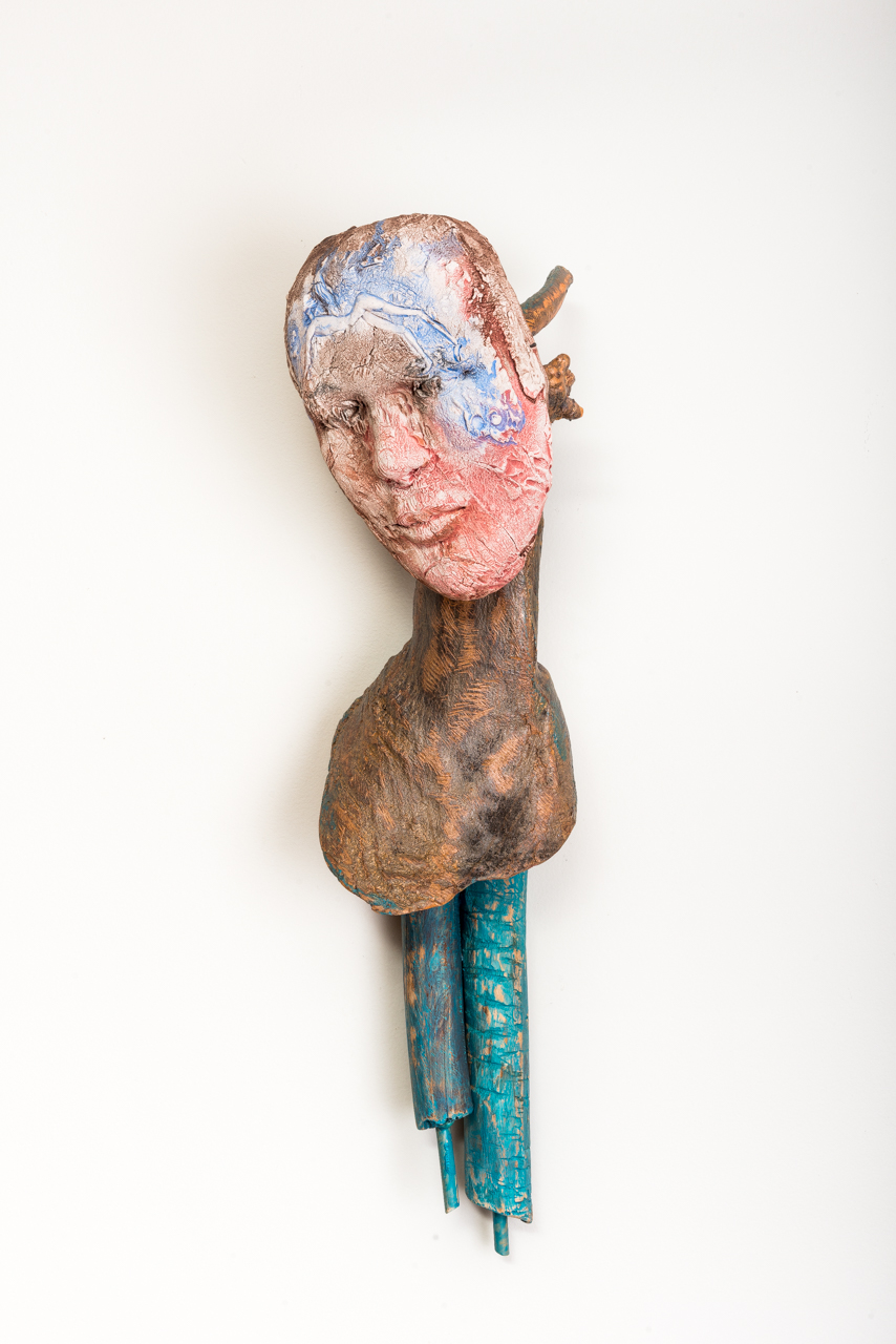On Point (Always a Ballerina)  2015, ceramic, wood, steel, acrylic, 30x10x10""