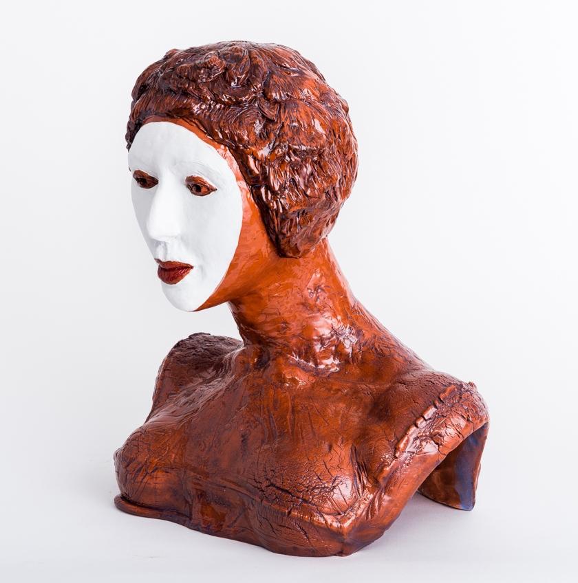 """Aspara I  2015, ceramic, 18x17x13"""""""