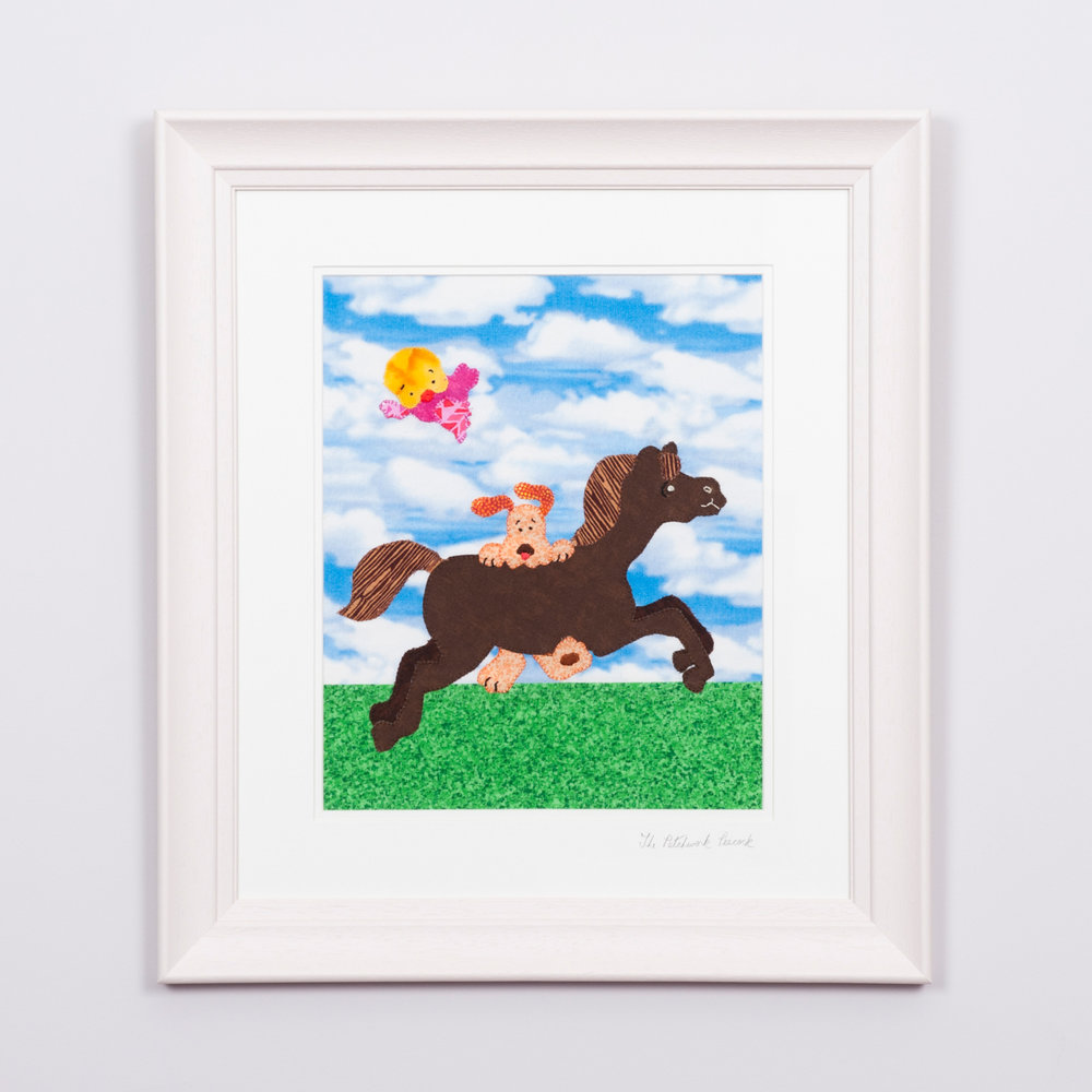 "DOG AND HORSE €80   10""x12"" in an 17""x19"" frame"