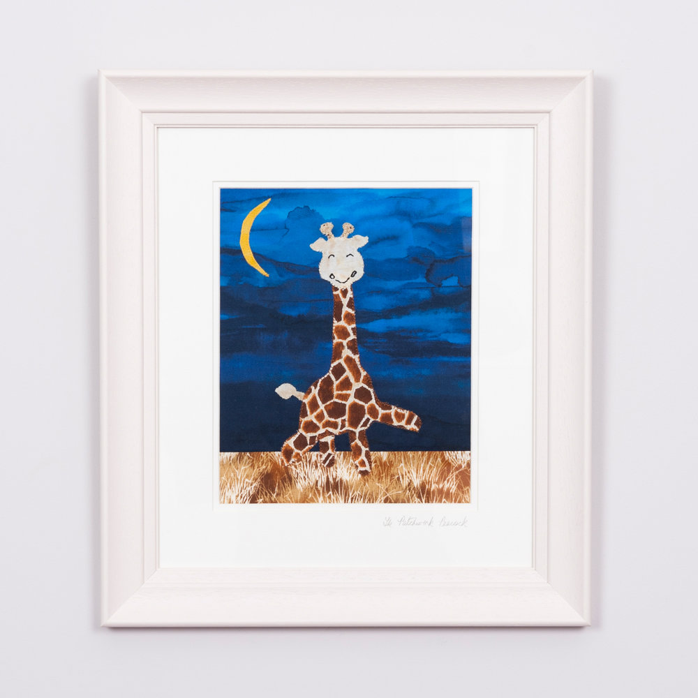 "- SAFARI GIRAFFE €708'""x10"" in a 15""x17"" frame"