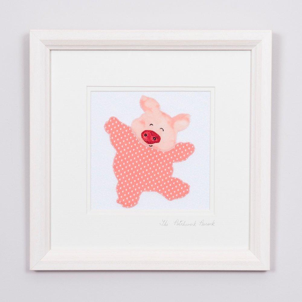 """PIG €35   6""""x6"""" in an 8""""x8"""" frame"""