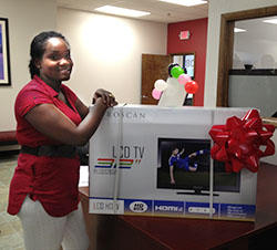 Our monthly winner, Kamaria Roberts