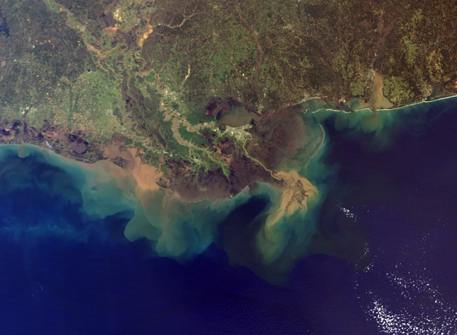 Mississippi Delta soil plume and dead zones