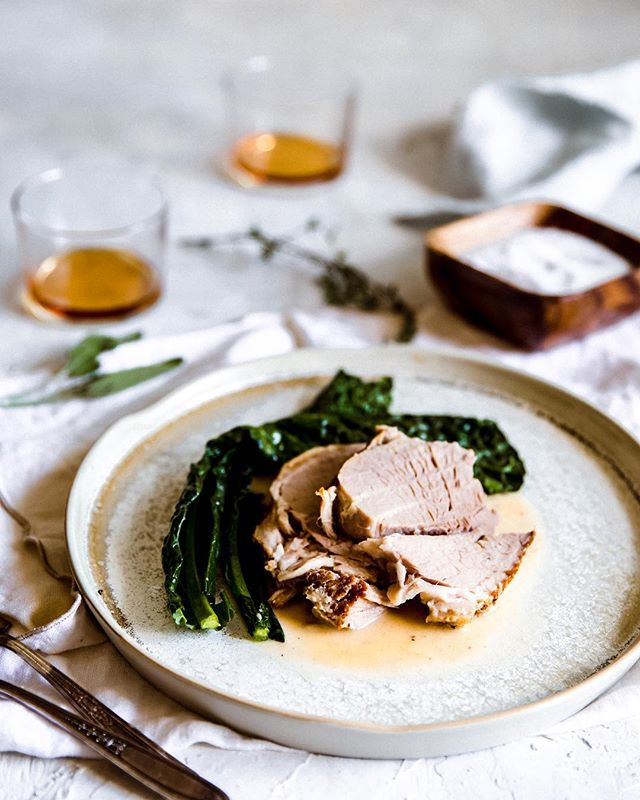 Slow braises commence—Milk braised pork! . I must admit, I was a little hesitant to make this recipe, but so glad I did. It created the most tender piece of pork that I've had in a long time 🙌🏽 And the most lucious, velvety gravy that was so tempting to just put into a cup and drink 🙈 yes, that good! . Have you ever braised anything in milk? Also, what have y'all been cooking? Would love to know and get some ideas! . . . . #f52fall #inseasonnow #vscofood #lifeandthyme #foodphotography #foodandwine #homecooking #shareyourtable #mycommontable #f52grams #TASTEcooking #mycanonstory #inmykitchen #rslove #theINSPIREDhome #geniuskitchen