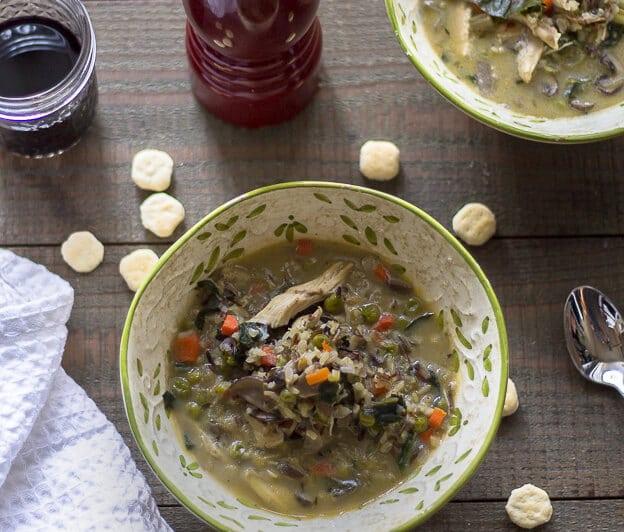 Creamy Chicken soup recipe-www.beyondthebayou.com