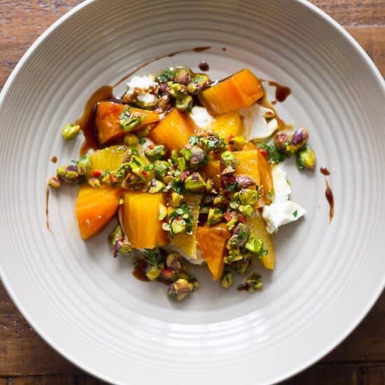 Pickled Beets & Goat Cheese Salad With Pistachio Gremolata