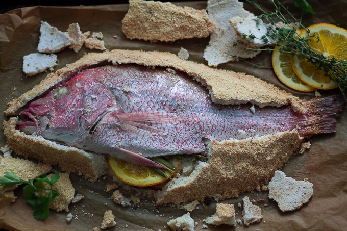 Salt Baked Fish Escovitch Fish-Beyondthebayoublog.com