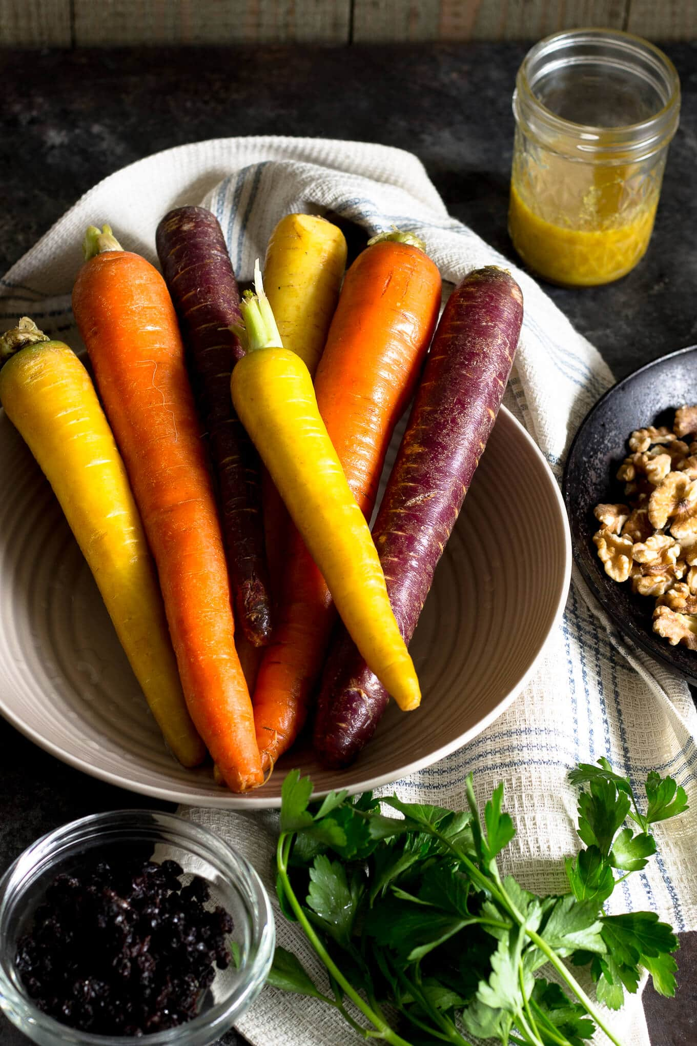Carrot Salad With Currants and Walnuts-Beyondthebayoublog.com-2