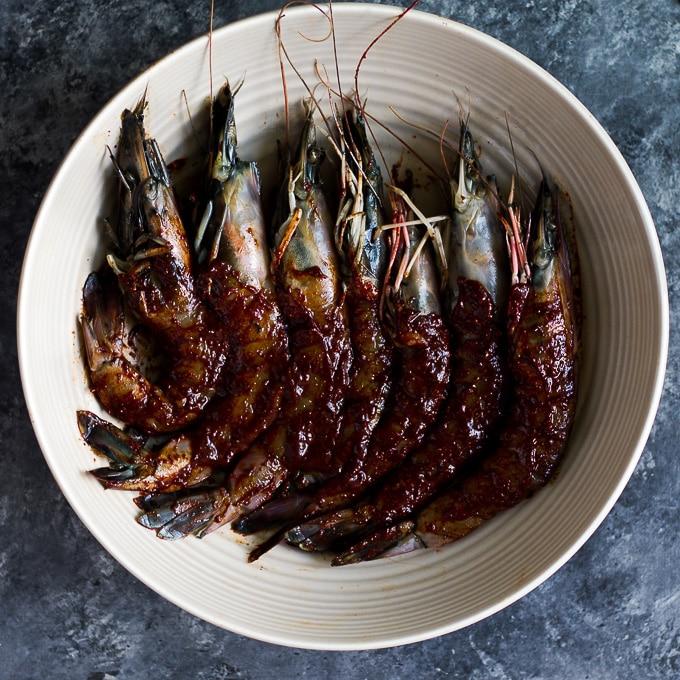 Best shrimp recipe red chili shrimp pineapple salsa-beyondthebayoublog.com