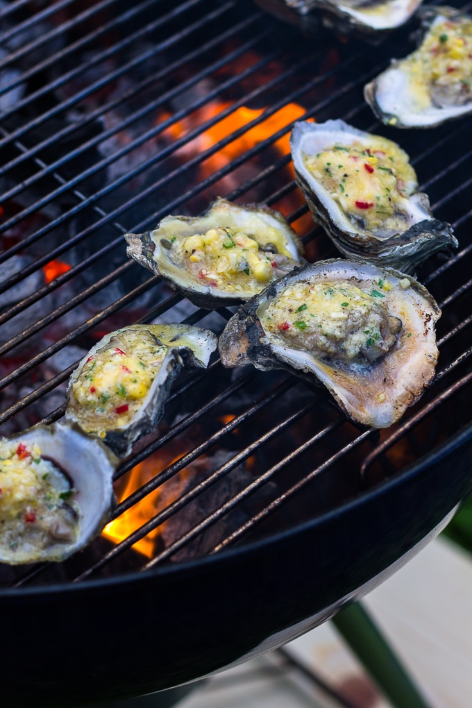 Charrgrilled oysters recipe-www.beyondthebayoublog.com