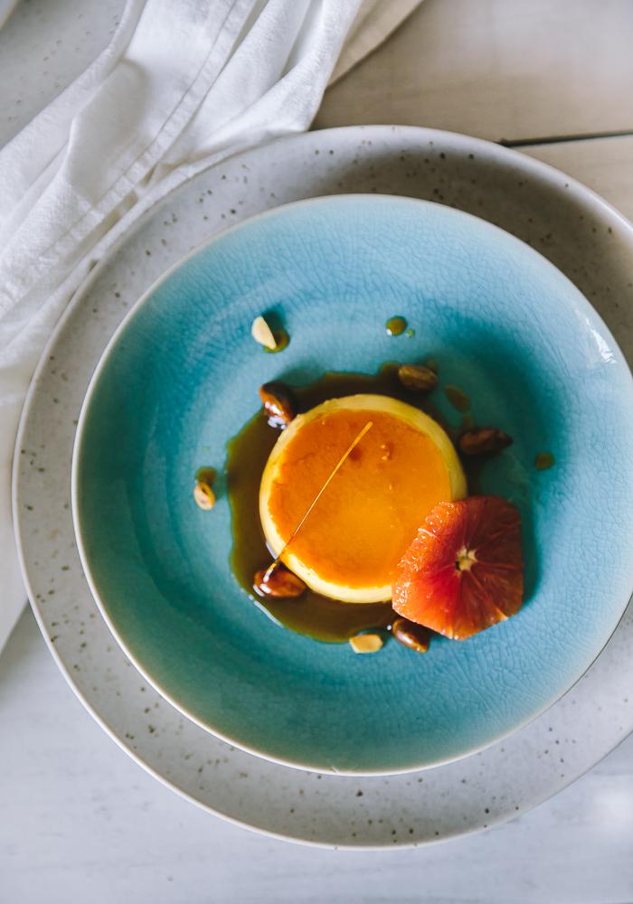 Saffron Cardamom Creme Caramel
