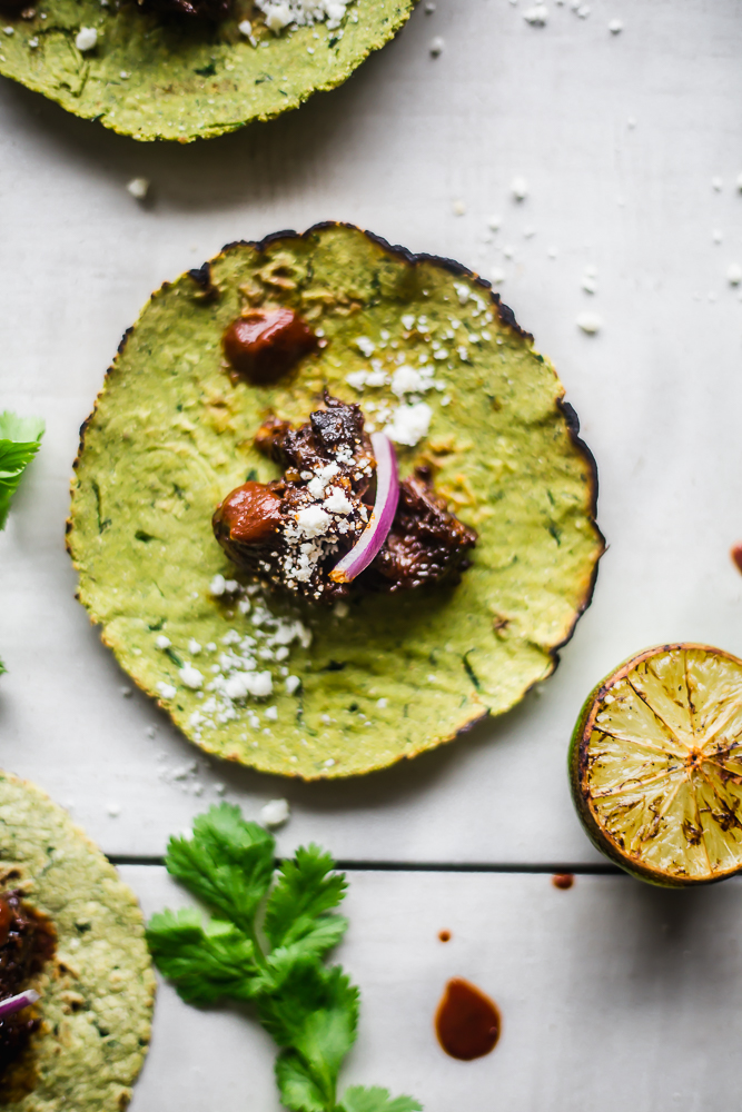 Cilantro Tacos with short rib
