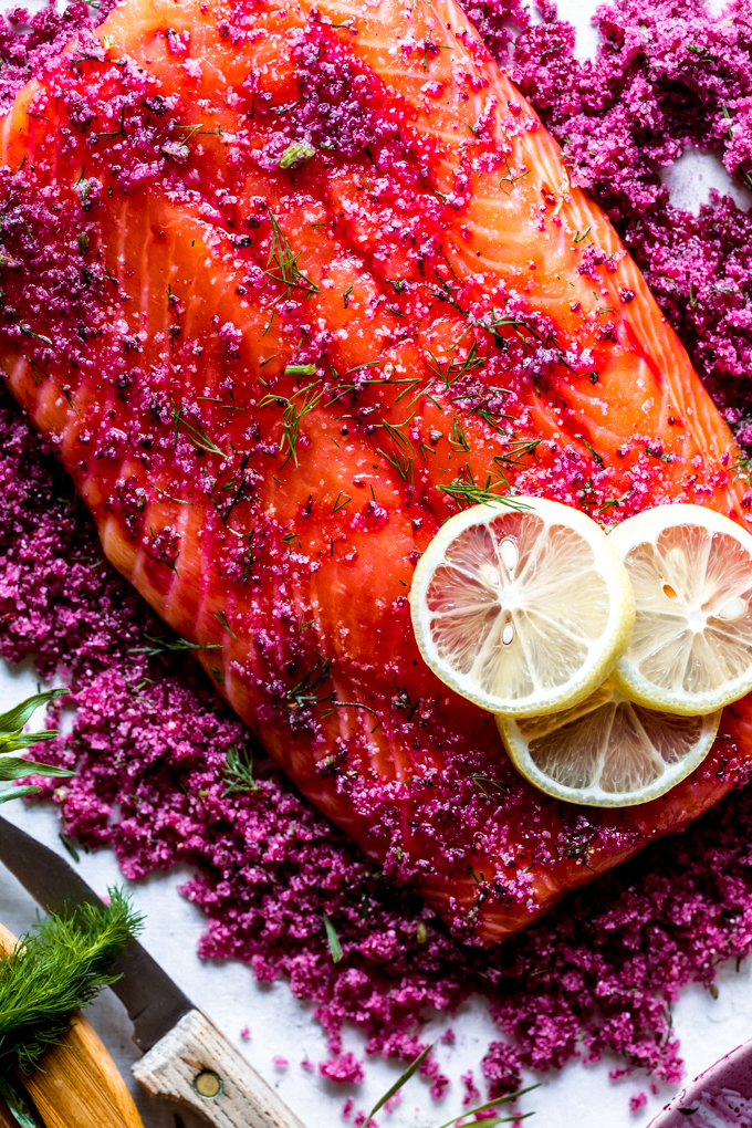 beet cured salmon gravlax-beyondthebayou