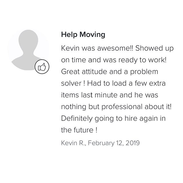 Another happy client 📦 Always affordable, efficient, and same day availability. Save $20 on your first move with code TRY4IOFA. Link in bio.