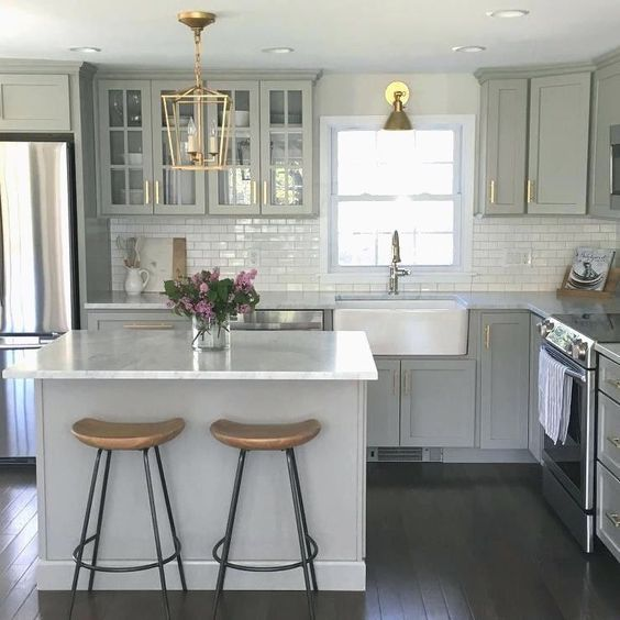 Kitchen remodeling Gold Accents
