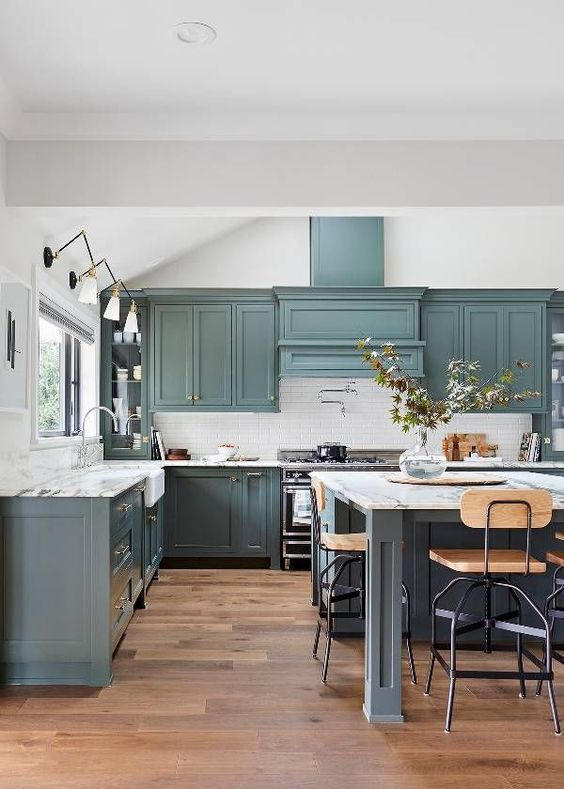 Royal green kitchen cabinet - kitchen remodeling 2019