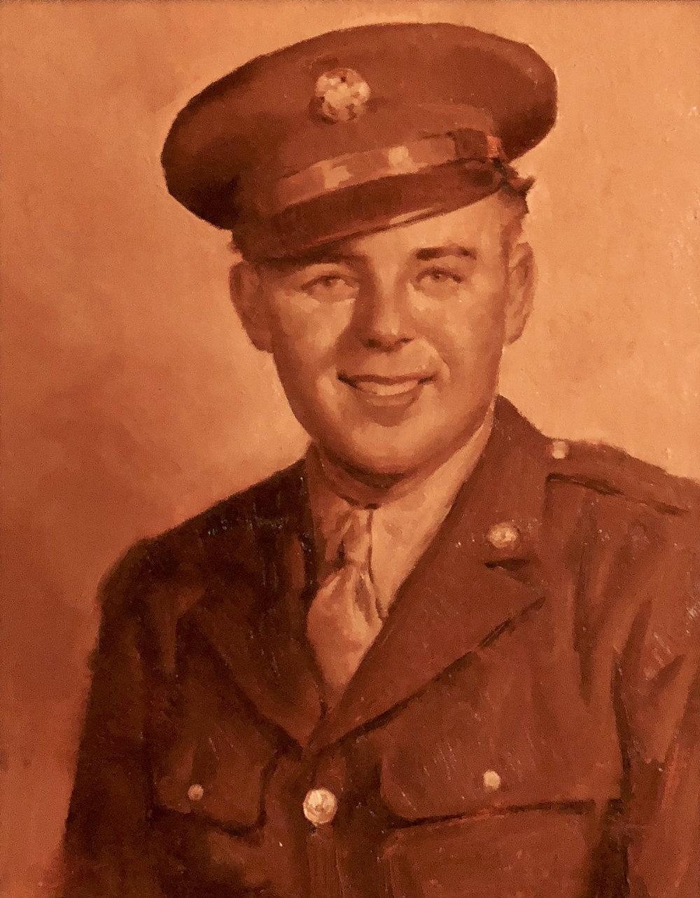 "Ray Kremer Army Uniform Portrait  11""x14"""