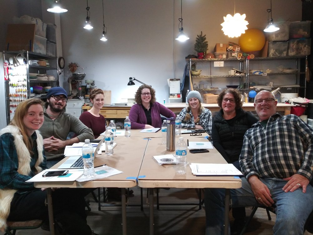 Art Market Work Shop Session at The Studio Rochester.