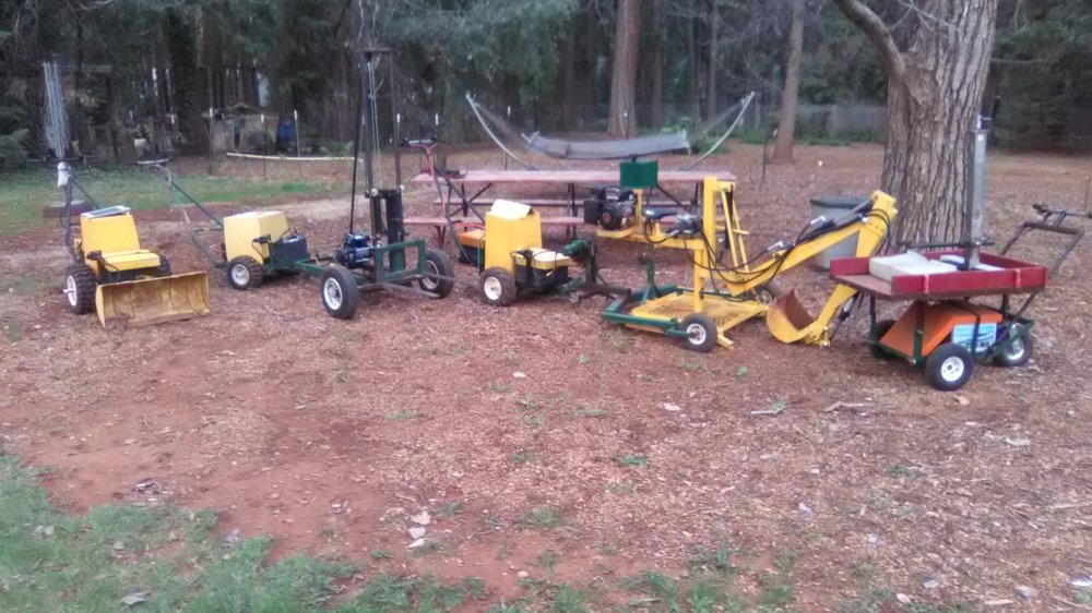 New Walk Behind Tractor & Implements Plan set.. - for those that already have the electric walk behind tractor or cad plans, that would like to build the latest walk behind tractor with all the implements.$90.00 u.s. dollars