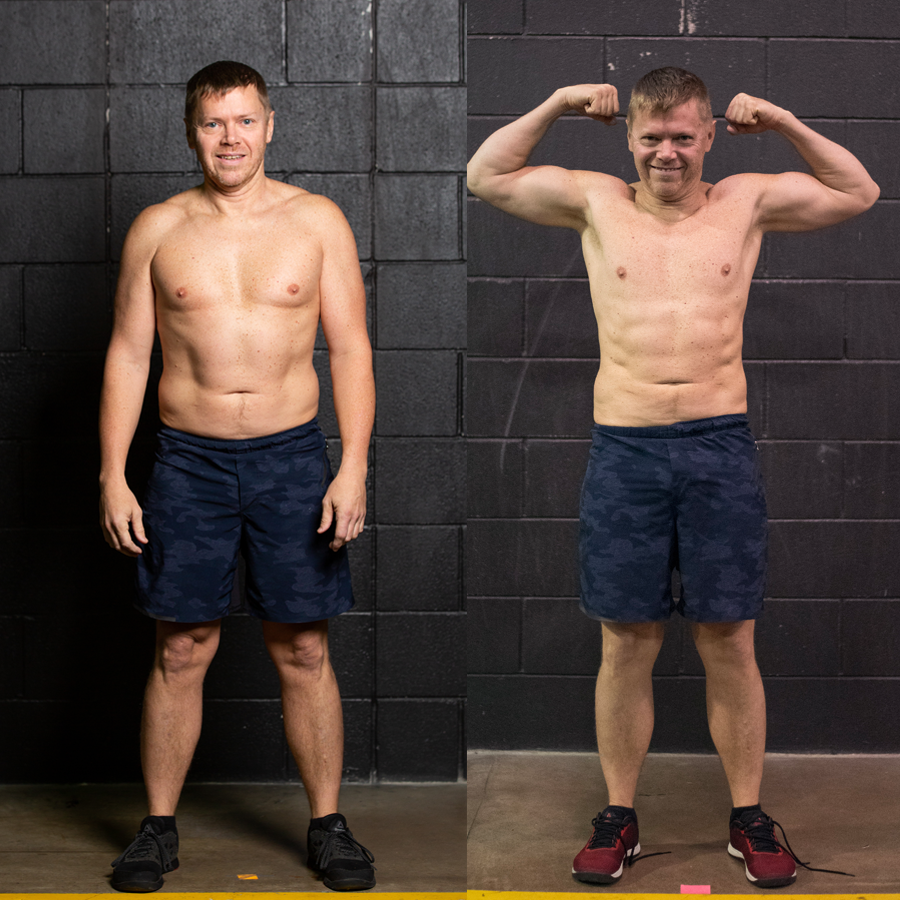 Todd - Lost 5.8 lbs Lost 3.6% Body FatGained 1.3 lbs Lean Muscle