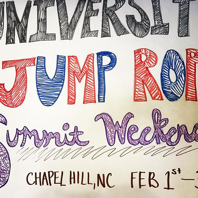 Excited to be here at the University Jump Rope Summit! #skipsations #20thanniversary #havefun #amjrf