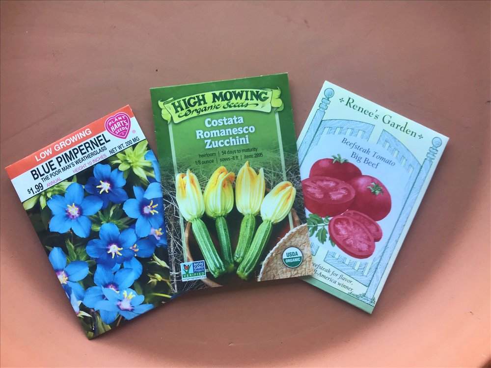 Seed Varieties Available: Hart's, High Mowing, and Reene's.