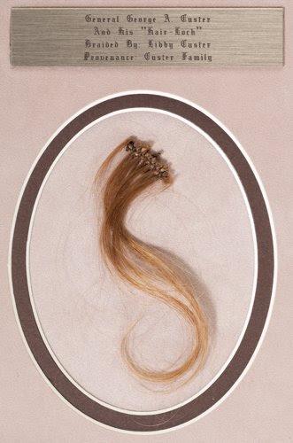 George A. Custer Braided Lock of Blond Hair