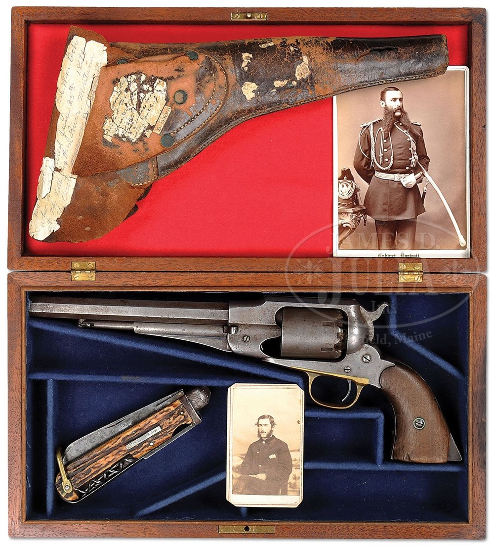 First Lieutenant William W. Cooke's Remington Army Revolver and Farrier's Knife
